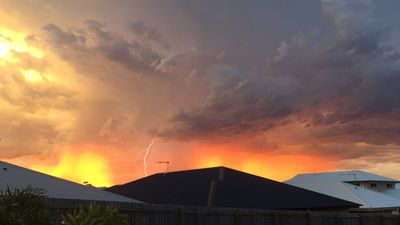 Lightning spotted from Mango Hill. (Supplied, Sara Attewell)