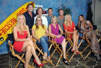 Key members of the cast reunited on <i>Entertainment Tonight</i> for the 25th anniversary special in October 2013.<br/><br/>Top left to right: David Hasselhoff (Mitch), Parker Stevenson (Craig), David Chokachi (Cody), Jaason Simmons (Logan). Bottom left to right: Gena Lee Nolin (Neely), Nicole Eggert (Summer), Erika Eleniak (Shauni), Brande Roderick (Leigh) and Traci Bingham (Jordan).