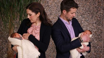 Princess Mary and Prince Frederik welcome twins, 2011