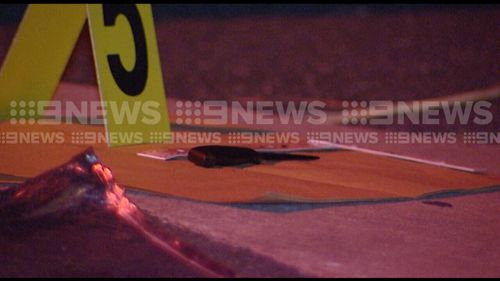 The knife has been recovered by police. (9NEWS)