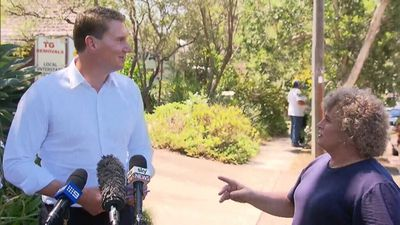 Cory Bernardi ambushed by transgender woman in Bennelong