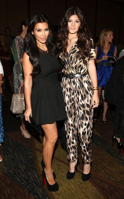 Kim Kardashian and Kylie Jenner attend Duane McLaughlin's 'Ready To Live' album release party at Utopia III on September 10, 2011 in New York City
