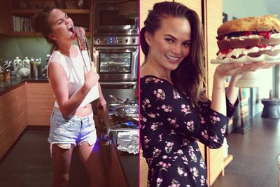 """In a world of stick-thin waifs on diets of kale and dust, Chrissy Teigen is a model who loves food and takes a refreshingly YOLO attitude to culinary indulgence.<br/><br/>John Legend's wife is a food blogger, a judge on MTV's new cooking show <i>Snack-Off</i> and regularly shares her own recipes on Instagram. Watch your throne, Nigella!<br/><br/>Here are our top 15 shots of Chrissy and her love affair with food.<br/><br/>Author: Adam Bub. <b><a target=""""_blank"""" href=""""http://twitter.com/TheAdamBub"""">Follow on Twitter</a></b>. Approved by Amy Nelmes.<br/><br/>Images: Instagram/Chrissy Teigen"""