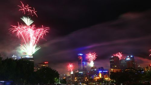 New Year's Eve fireworks over the Yarra River. (AAP)