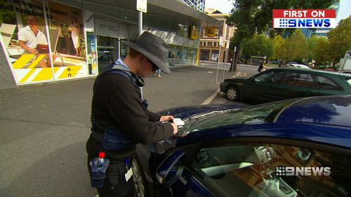 Motorists will be able to use the app to extend their parking ticket by 15 minutes. Picture: 9NEWS
