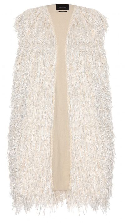 "<p><a href=""http://www.mytheresa.com/en-au/alfie-fringe-embellished-sleeveless-jacket-418067"" target=""_blank"">Alfie fringe-embellished sleeveless jacket, $1145, Isabel Marant</a></p>"