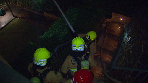By the time firefighters arrived around 8pm, two storeys were engulfed.