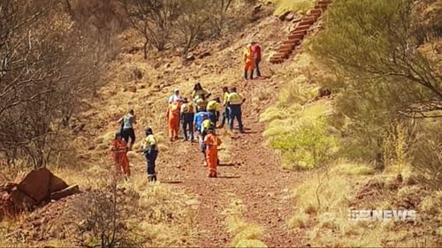 More than a dozen SES volunteers are searching for her.