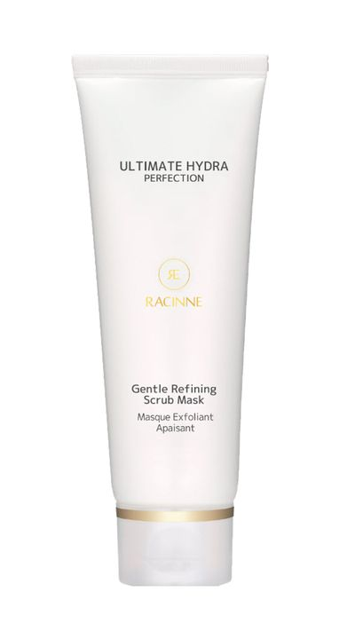 "<p><a href=""http://shop.racinne.com.au/gentle-refining-scrub-mask/"" target=""_blank"">Ultimate Hydra Perfection Gentle Refining Scrub Mask, $44, RACINNE</a></p>"
