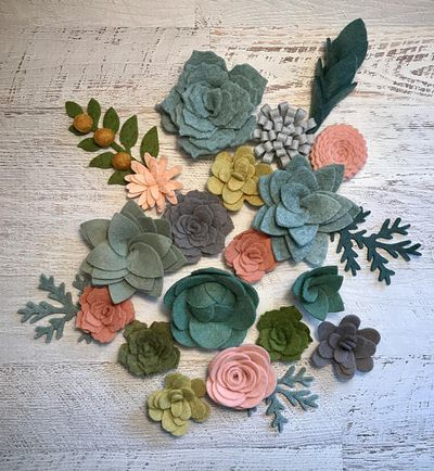 """<a href=""""https://www.etsy.com/au/listing/526821059/wool-felt-succulents-and-flowers-18?ga_order=most_relevant&amp;ga_search_type=all&amp;ga_view_type=gallery&amp;ga_search_query=flower%20crowns&amp;ref=sc_gallery_2&amp;plkey=5522f7a019341980cb1c0c472033ef60eea8c9ca:526821059"""" target=""""_blank"""" draggable=""""false"""">A Market Collection Wool Felt Succulents and Flower Kit, $34.13.</a> Create your own DIY headbands, wreaths and garlands."""