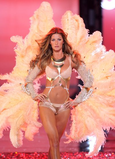 """<p>1. Gisele Bundchen</p> <p>The world's highest-earning model walked for Victoria's Secret from 1999 until 2007 when her fame as a model mogul eclipsed the need to wear wings. Last year Gisele reportedly earned <a href=""""http://style.nine.com.au/2016/09/01/13/11/top-model-earners-miranda-kerr-forbes-gigi-kendall"""" target=""""_blank"""">$40 million</a>.</p>"""