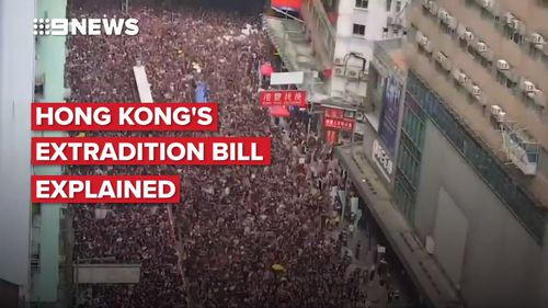 Hong Kong protest: Anti-extradition bill protesters and police play