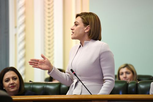 Queensland Treasurer Jackie Trad to announce budget surplus of $1.5 billion. Picture: AAP