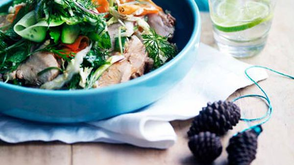 Kylie Kwong: Red-braised free-range turkey breast with Chinese coleslaw
