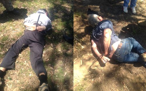The arrest on the central-west NSW property in October. (9NEWS)