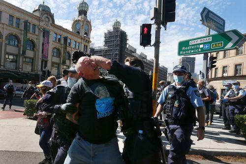 Sydney anti-lockdown protests, Saturday August 21, 2021