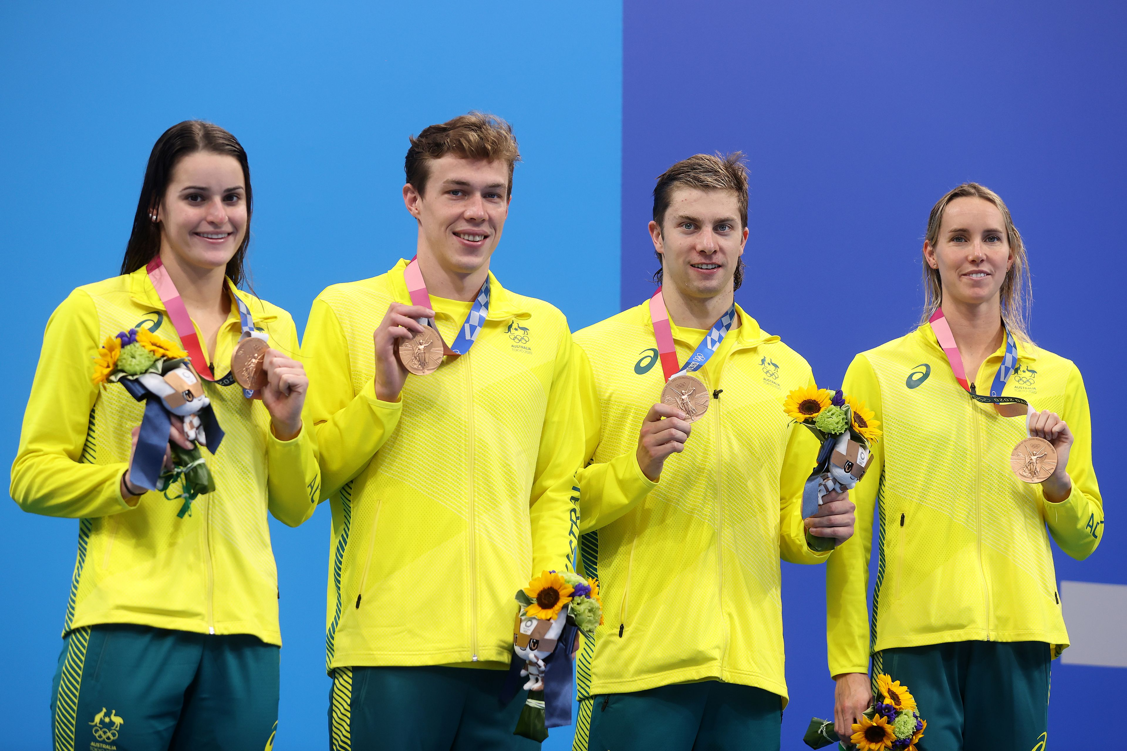 Tokyo Olympics 2021: Emma McKeon equals Australian medal record as Aussies grab bronze in 4x100 mixed medley relay