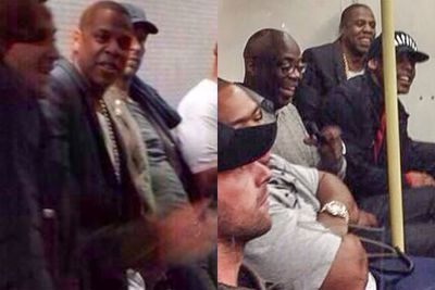 Jay Z is a repeat offender! With friends in tow, the hip-hop superstar shocked commuters by taking the tube to get to his sold-out concert at O2 Arena. <br/>