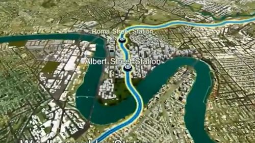 Cross River Rail is a 10.2km rail line between Dutton Park and Bowen Hills, that includes a 5.9km twin tunnel under the Brisbane River and Brisbane CBD. (9NEWS)