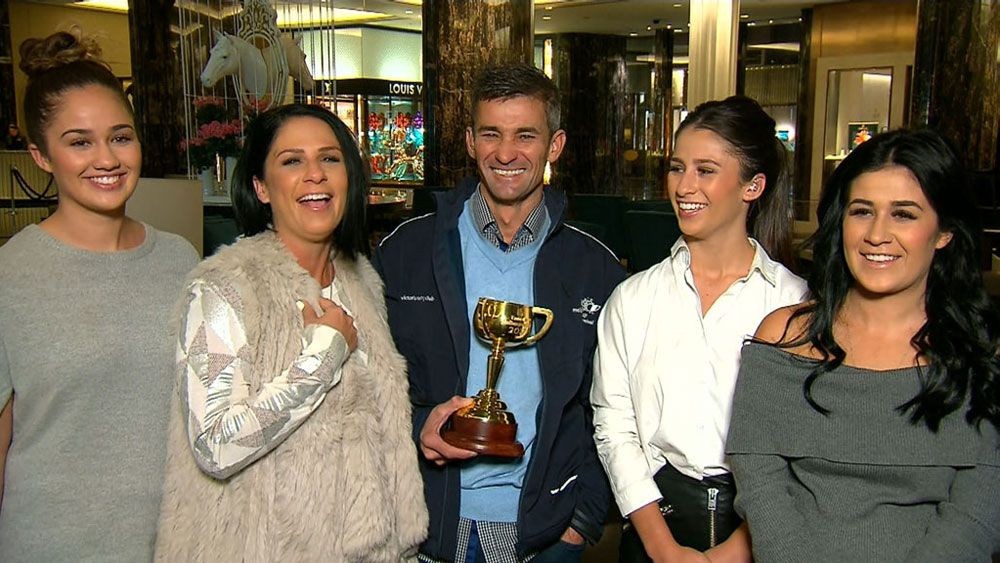 Jockey Corey Brown only had three minutes with Rekindling before Melbourne Cup win