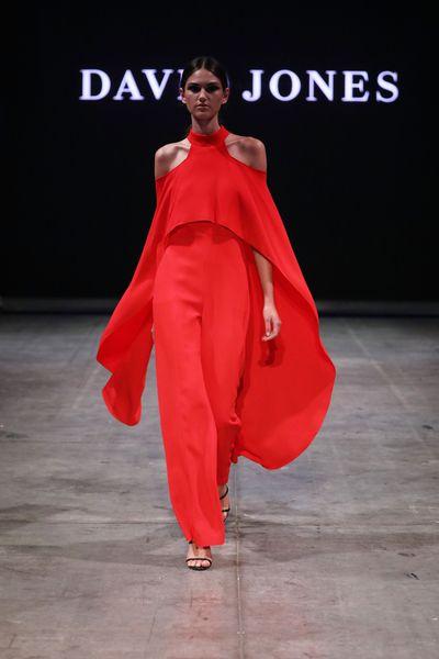 A model wearing Carla Zampattiat the David Jones Autumn/Winter 18 show