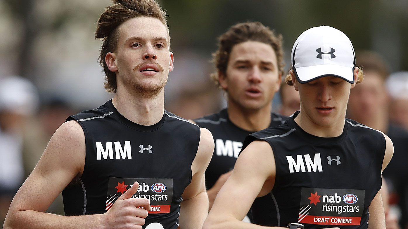 Noah Anderson completes the 2km time trial during the 2019 AFL Draft Combine
