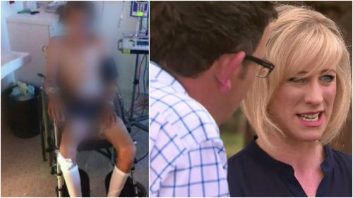 Daniel Andrews' wife, Catherine, wasn't breath-tested following the 2013 crash. (9NEWS)