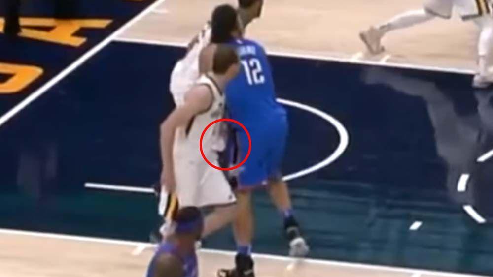 Aussie Joe Ingles fined by NBA for sneaky groin shot on Kiwi Steven Adams