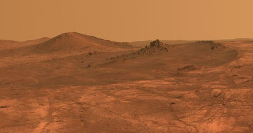 A file NASA photo taken by the Opportunity rover on Mars.