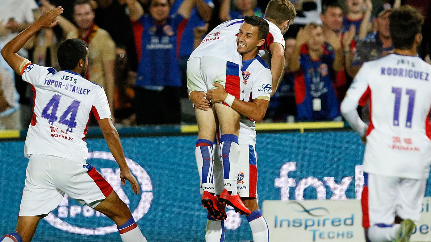 Newcastle Jets belt Central Coast Mariners with 8 A-League goals