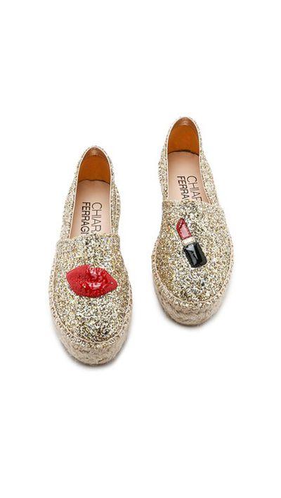 "<p><a href=""http://www.shopbop.com/glitter-lipstick-espadrilles-chiara-ferragni/vp/v=1/1500397507.htm?fm=search-viewall-shopbysize&amp;os=false"" target=""_blank"">Glitter Lipstick Espadrilles, $414.67, Chiara Ferragni at shopbop.com</a></p>"