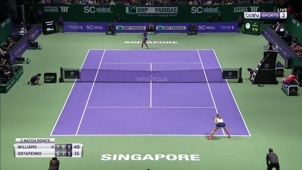 Williams wins marathon match in Singapore