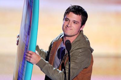 """""""I've always wanted to own my own surfboard, so now I have one. This is awesome!"""" <i>The Hunger Games</i>' Josh Hutcherson said after he was named Choice Movie Actor: Sci-Fi/Fantasy. He seems pretty chuffed."""