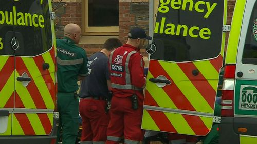 A medical team worked to stabilise the boy in front of shocked students and staff members.