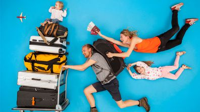 Tickets please! Most Aussie parents believe holidaying on home soil is better for kids - but it won't stop them going overseas as a family. Image: Getty