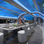 Private jet with an 'underwater' cabin