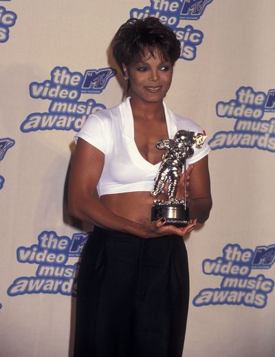 Janet Jackson at the MTV VMAs in 1995.