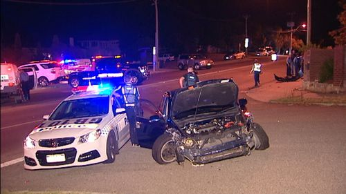 Police pursued one vehicle for several minutes before the crash. (9NEWS)