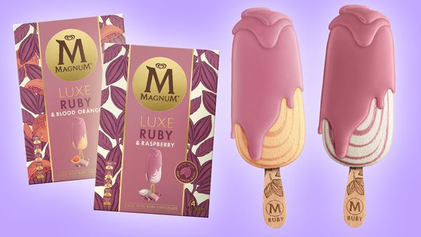 The world's first Ruby chocolate ice-cream has landed