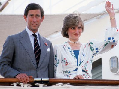 Prince Charles and Princess Diana on their honeymoon, aboard the Britannia
