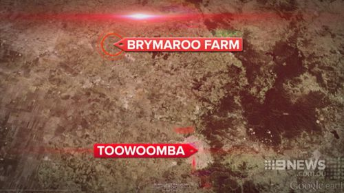 Firefighters said the farm house was isolated. (9NEWS)