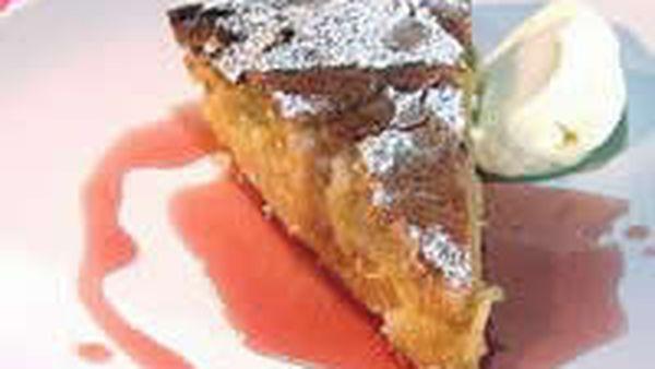 Nectarine and almond Tart