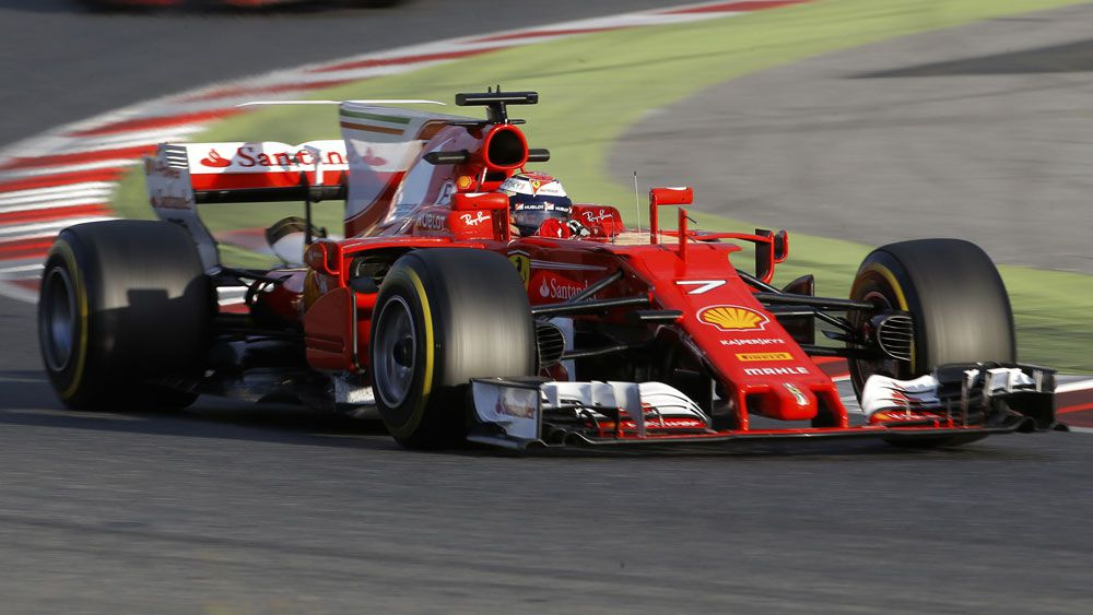 Kimi Raikkonen was fastest in F1 testing in Spain. (AAP)