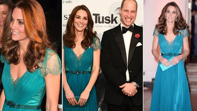 Kate recycles dress for Tusk Awards