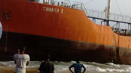 Mysterious abandoned ghost ship washes ashore in West Africa