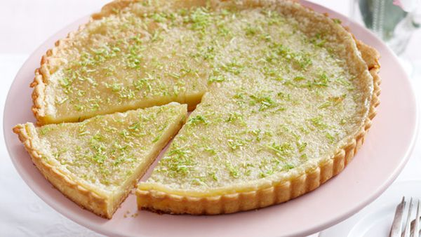 Lime coconut tart