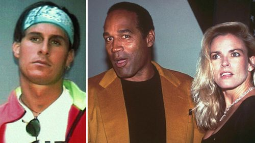 In 1995 O.J. Simpson was found not guilty of murdering his ex-wife Nicole Brown and her friend Ron Goldman (far left).