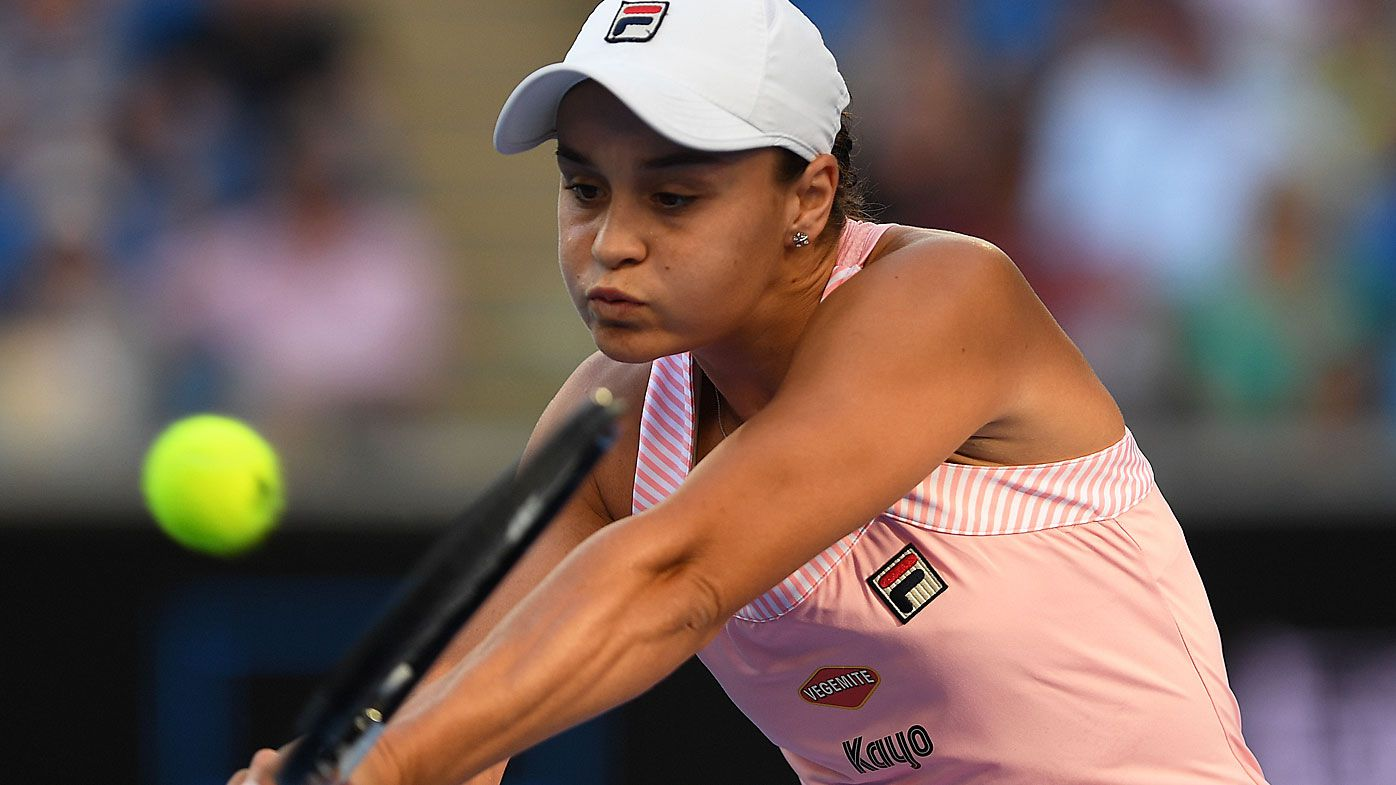 Ash Barty secures second round berth with win over Luksika Kumkhum