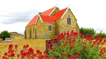 St James Anglican Church in Jericho, Tasmania, will go up for sale. (Duncan Grant)