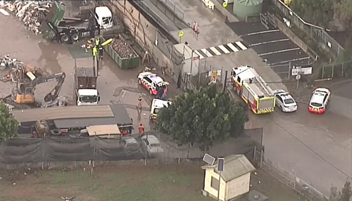 The injured man is expected to be flown to Westmead Hospital for treatment after a Camellia workplace accident.